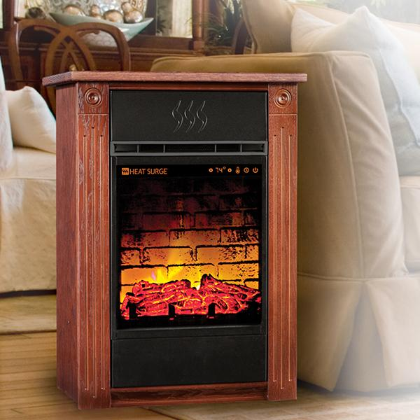 Heat Surge Amish Crafted Fireplaces, Amish Made Electric Fireplace Heater