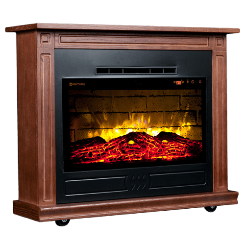 Roll N Glow Heat Surge, Amish Made Electric Fireplace Heater